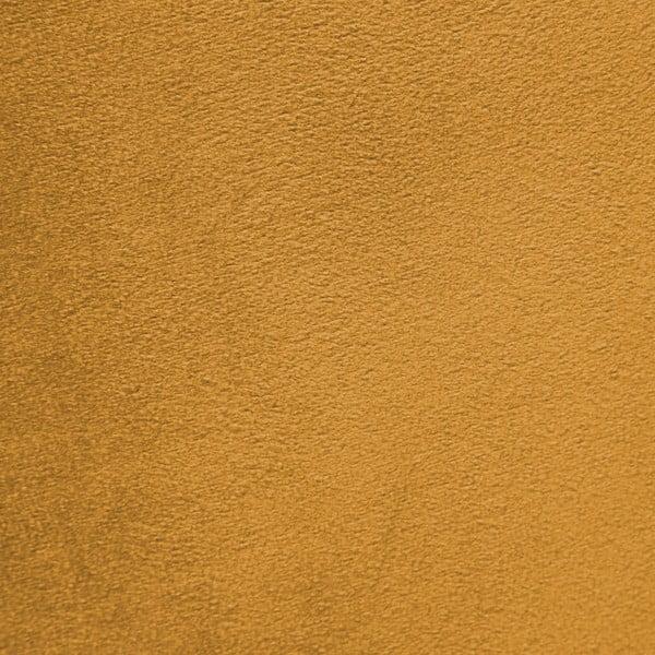 Horčicovožlté kreslo a podnožka s podnožou v prírodnej farbe Vivonita Cora Velvet