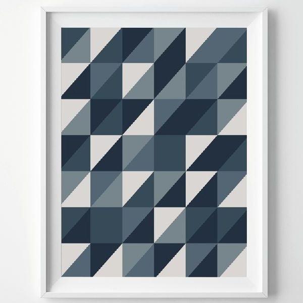 Plagát Grey Triangle, A3
