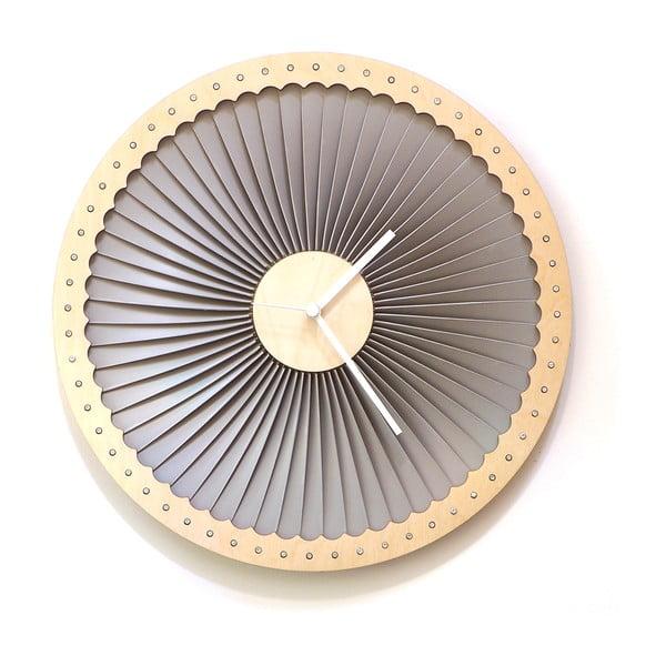 Drevené hodiny Turbine, 41 cm