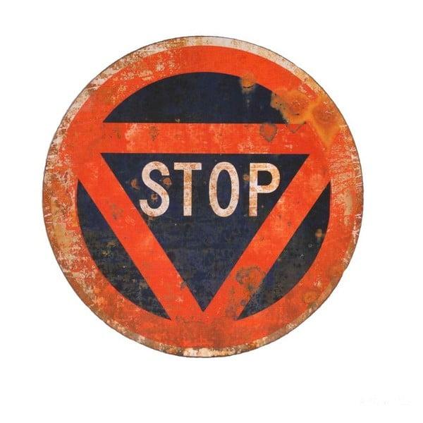 Kovová ceduľa Stop, 45 cm
