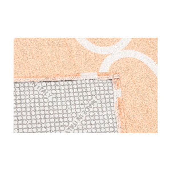 Vysokoodolný kuchynský koberec Trellis Apricot, 60x220 cm