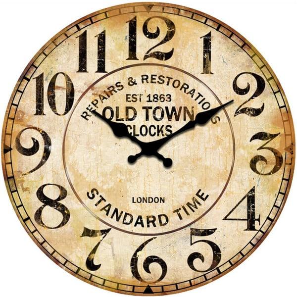 Sklenené hodiny Repair, 34 cm