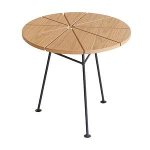 Odkladací stolík Bam Bam, prírodný, priemer 50 cm