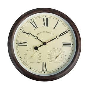 Nástenné hodiny do exteriéru s rímskymi číslicami Esschert Design