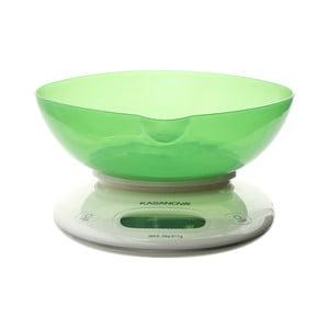 Zelená digitálna kuchynská váha Kasanova