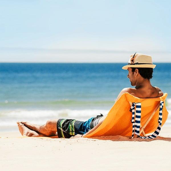 Skladacie plážové lehátko a osuška v jednom Sun Seat Carrot