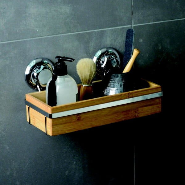 Bambusový držiak na kúpeľňové doplnky Compactor Spa