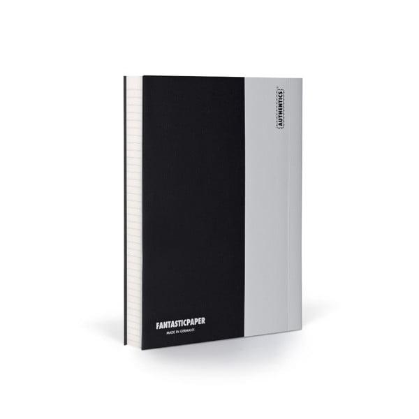 Zápisník FANTASTICPAPER A6 Black/Cool Grey, riadkovaný
