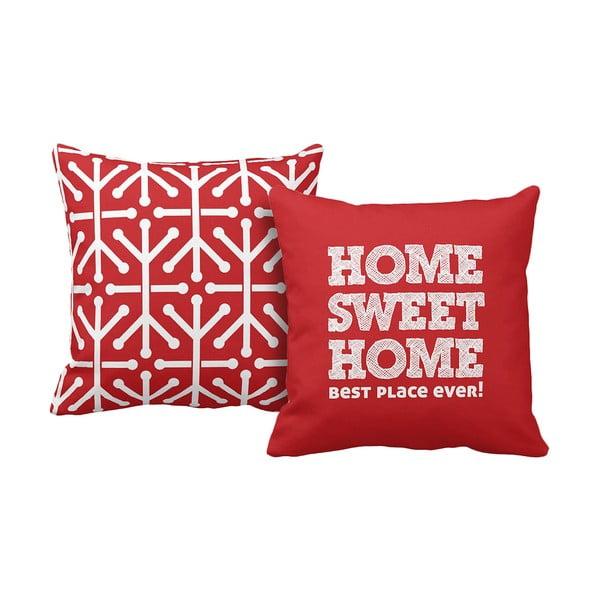 Set 2 vankúšov Home Red, 43x43 cm