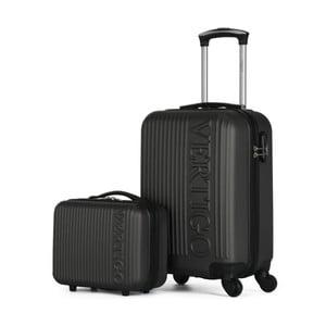 Sada 2 tmavosivých cestovných kufrov na kolieskach VERTIGO Valises Cabine & Vanity Case