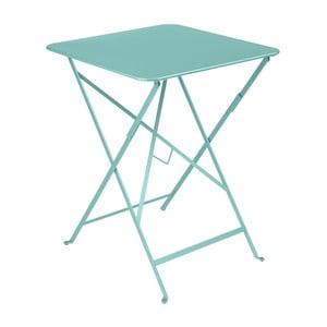 Svetlomodrý záhradný stolík Fermob Bistro, 57×57 cm