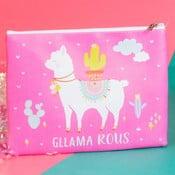 Ružová kozmetická taštička/peňaženka Just 4 Kids Llama Cosmetic Bag
