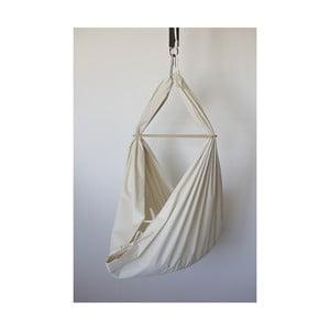 Krémová kolíska z bavlny so zavesením do dverí Hojdavak Baby (0 až 9 mesiacov)