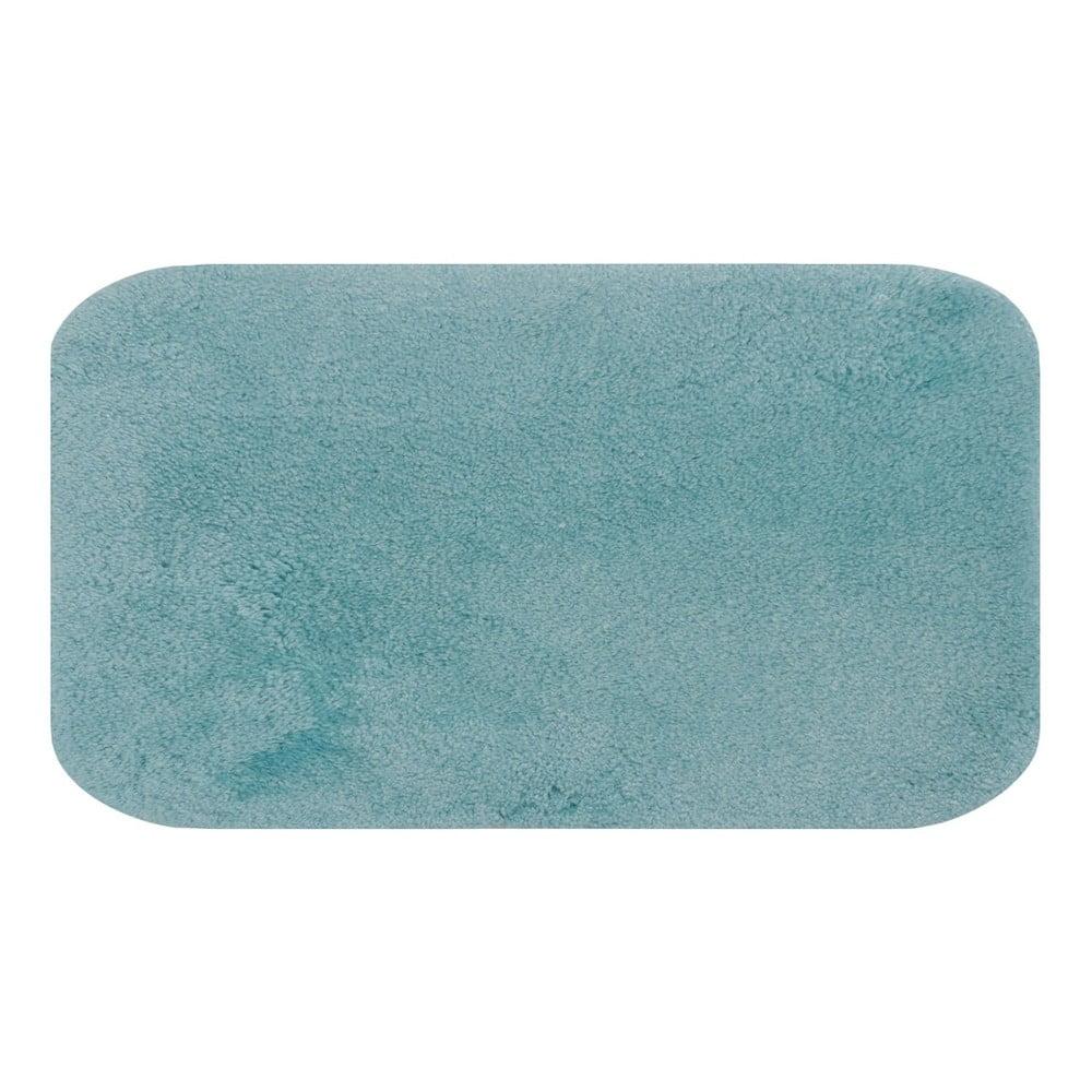 Tyrkysová predložka do kúpeľne Confetti Miami, 80 × 140 cm