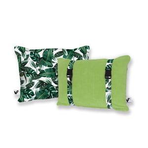 Zelený obojstranný plážový vankúš Origama Leaf