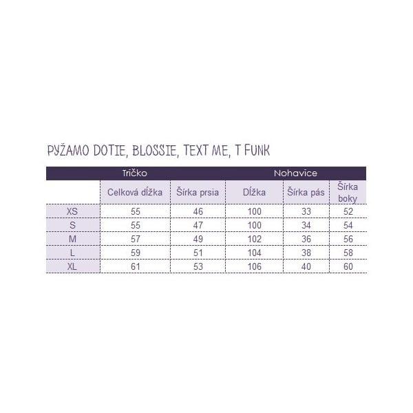 Pyžamo Text Me, veľkosť L