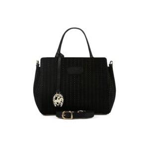 Čierna kožená kabelka Beverly Hills Polo Club Dona