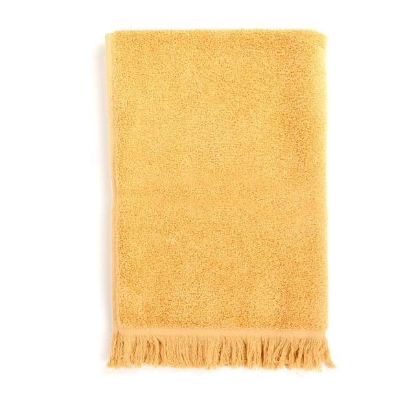 Set 2 žltých bavlnených osušiek a 2 uterákov Casa Di Bassi Sun
