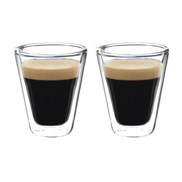 Sada 2 dvojstenných pohárov na espresso Bredemeijer, 85 ml
