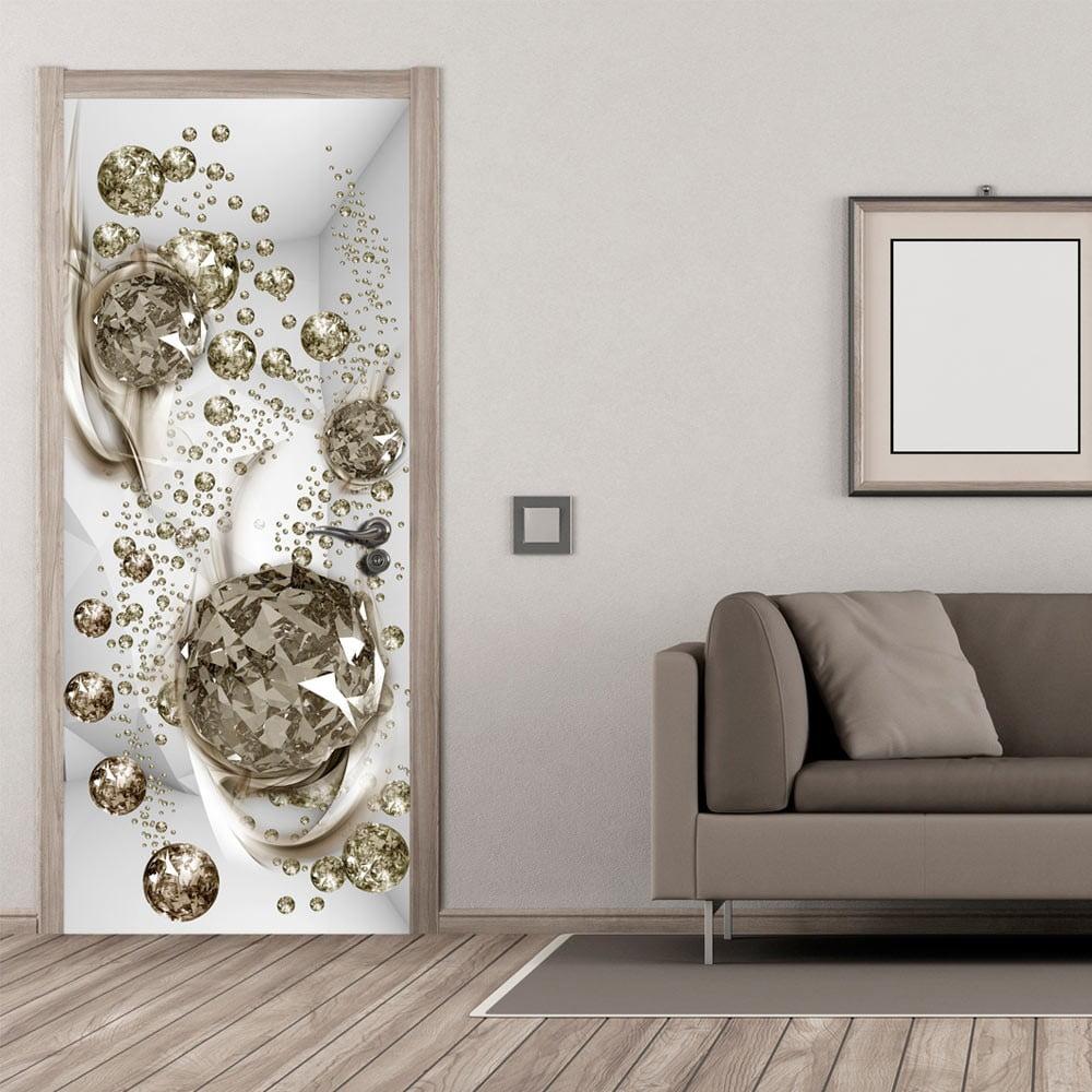 Tapeta na dvere v rolke Bimago Bubble Abstraction, 80 x 210 cm