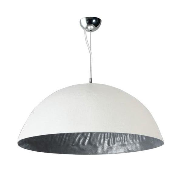 Bielo-strieborné stropné svietidlo ETH Mezzo Tondo, ⌀ 70 cm