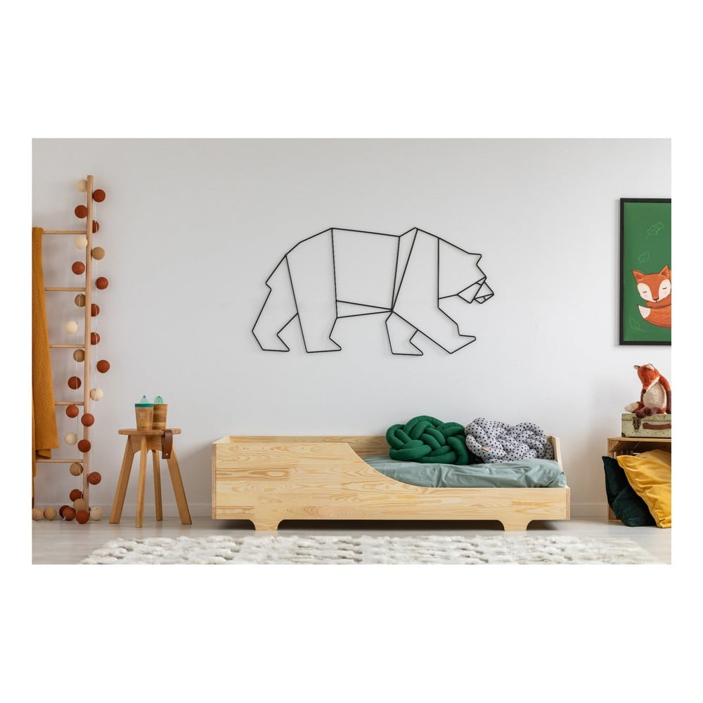 Detská posteľ z borovicového dreva Adeko Mila BOX 4, 70 x 140 cm