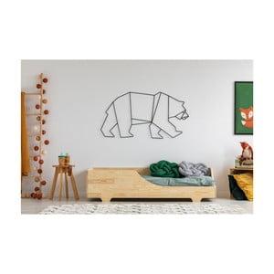 Detská posteľ z borovicového dreva Adeko Mila BOX 4, 90 × 200 cm