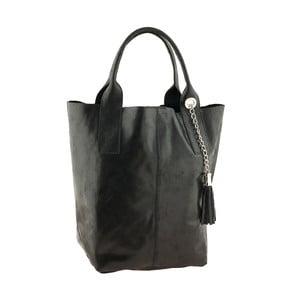Čierna kožená kabelka Ore Diece Laura