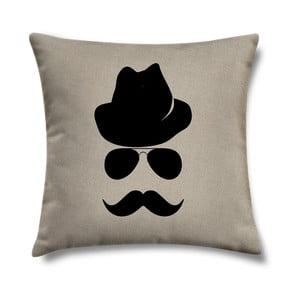 Vankúš Mustache, 43x43 cm