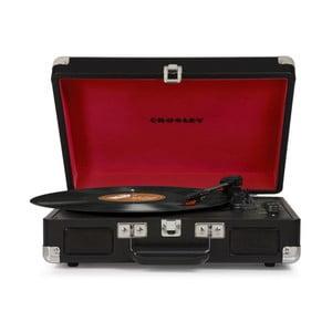 Čierno-červený gramofón Crosley Cruiser Deluxe