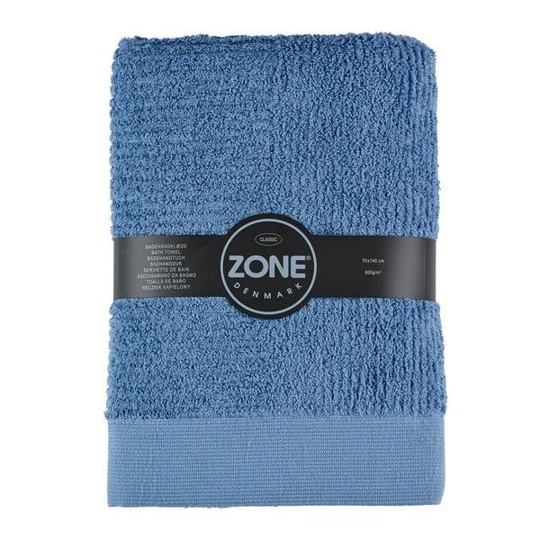 Modrá osuška Zone Classic, 140x70 cm