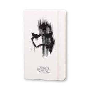 Veľký biely zápisník Moleskine Star Wars VII, linajkový