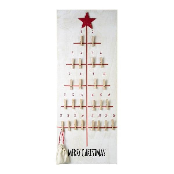 Adventný kalendár so štipcami  Parlane Advent