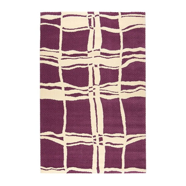 Vlnený koberec Tatoo 105 Lila, 140x200 cm