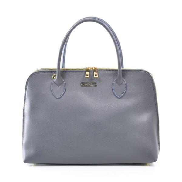 Kožená kabelka Dominique, sivá