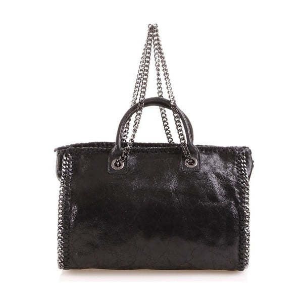 Kožená kabelka Gloria, čierna