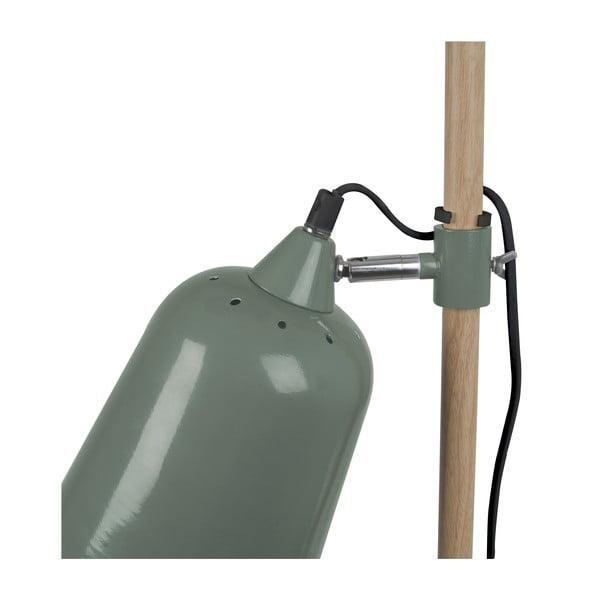 Zelená stolová lampa Leitmotiv Wood