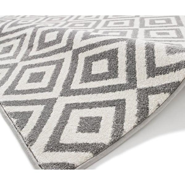 Sivo-biely koberec Think Rugs Matrix, 120x170cm