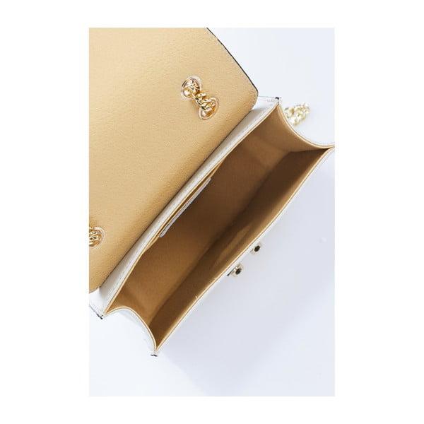 Béžová kožená kabelka Giulia Massari Skata