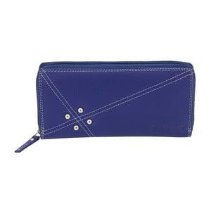 Modrá peňaženka z teľacej kože Friedrich Lederwaren Shoe