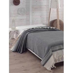 Prikrývka na posteľ Hasir Dark Blue, 200x240 cm