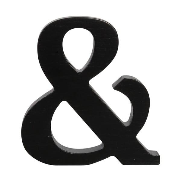 Čierne drevené písmeno Typoland &