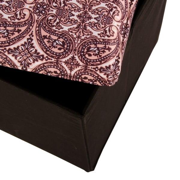 Veľká úložná krabica Puff Black, 38x38 cm