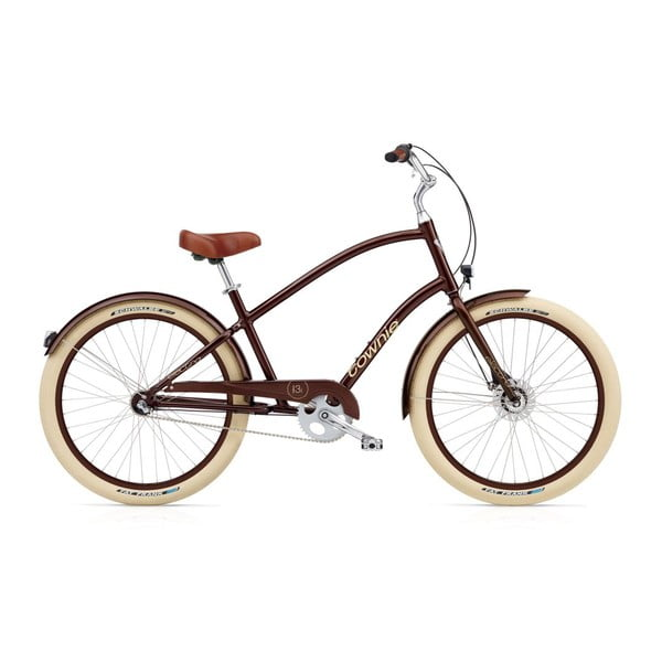 Pánsky bicykel Townie Balloon 3i EQ Brown Metallic