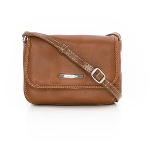 Hnedá kožená kabelka Gianni Conti Priscilla