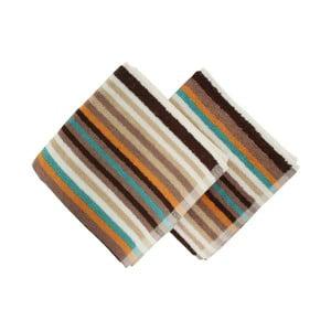 Sada 2 hnedých uterákov Cizgi Brown, 40 x 80 cm