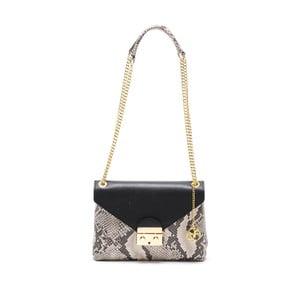 Čierna kožená kabelka Carla Ferreri Classic