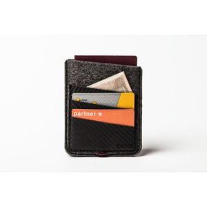 Púzdro na cestovný pas z pravej kože Éstie,tmavo sivé