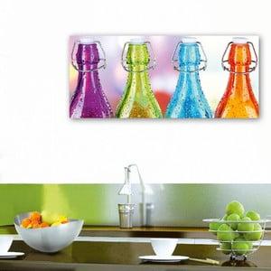Dekoratívny nástenný panel Fľaše, 115x50 cm