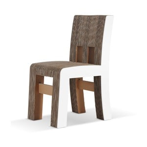Kartónová stolička Campagnola White